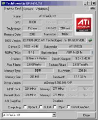 ATI FireGL X1-256p GPUZ