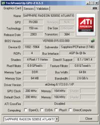 Sapphire GPU-Z