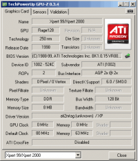 ATi Xpert 99 GPUZ