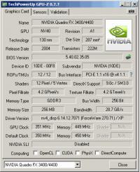 Quadro FX 3400 GPUZ